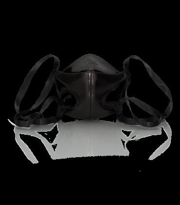 Bernd Serafin Thaler Miss Rona Couture Mask Black Leather