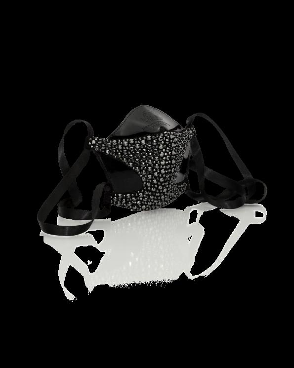 Bernd Serafin Thaler Miss Rona Crystal Couture Mask Jet Hematite